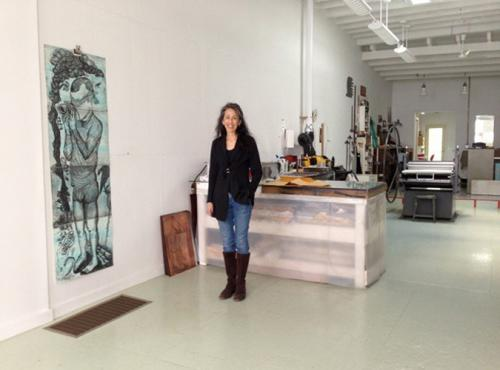 Cindi Royce Ettinger in her studio